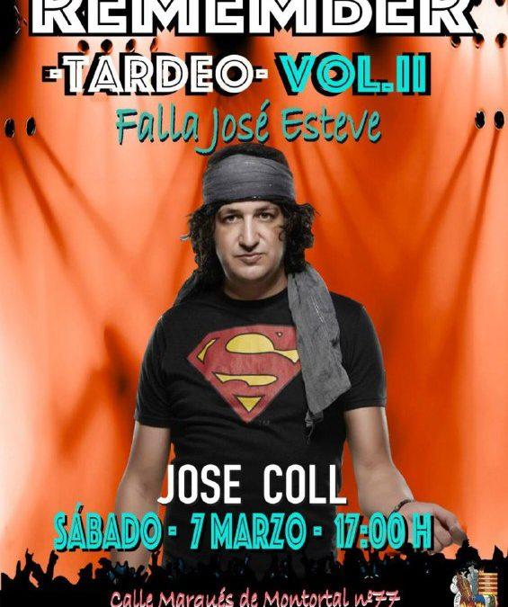 El sábado 7 de Marzo estaremos con Jose Coll en la falla Jose Esteve. No te lo puedes perder